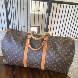 100% Authentic Louis Vuitton 55 Duffle Bag